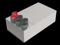 Verteilerkästen mit integriertem Schalldämpfer