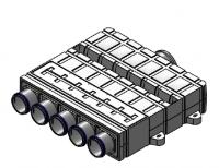 bx-VK-K 5+1-75/125 Verteilerkasten 6 Anschlüsse