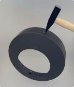 Kaminofen-Rosette 150 schwarz
