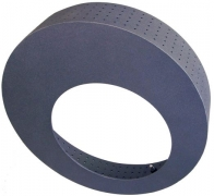 Kaminofen-Rosette 150 gussgrau