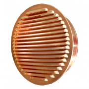 Kupfer Lüftungsgitter rund mit Stutzen Ø 200 mm