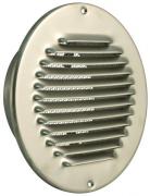 Edelstahl Lüftungsgitter rund mit Stutzen Ø 150 mm