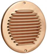 Kupfer Lüftungsgitter rund ohne Stutzen Ø 150 mm