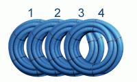 Flexibles Lüftungsrohr 75 mm, 4 x 50 m, Bundpreis 90 € - bx-LR 75/4
