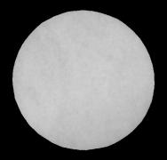 Filterzuschnitt- rund G2, Durchmesser 125 mm, Dicke 10 mm