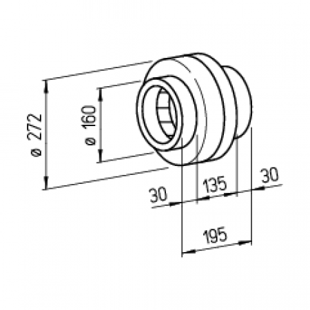 Helios Radial-Rohrventilator InlineVent RR 160 B zweistufig 5656