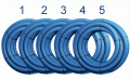 Flexibles Lüftungsrohr 75 mm, 5 x 50 m, Bundpreis 85 € - bx-LR 75/5