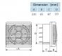 bx-FVR 180 - Fensterventilator reversierbar (DN 180 mm)