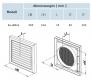 bx-GE150 Lüftungsgitter (für Rohr 150 mm)
