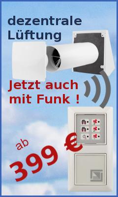 WIFI decentral ventilantion / Funk Lüftungslösungen